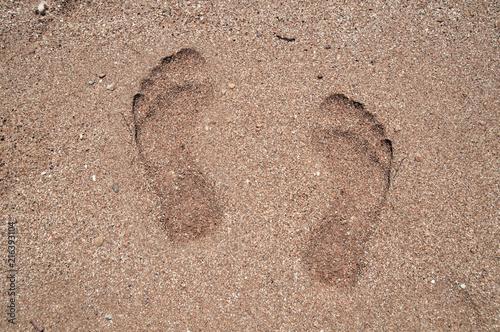 Fotografie, Obraz  Kumsaldaki ayak izleri