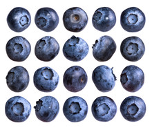 Big Set Of Fresh Blueberry Iso...