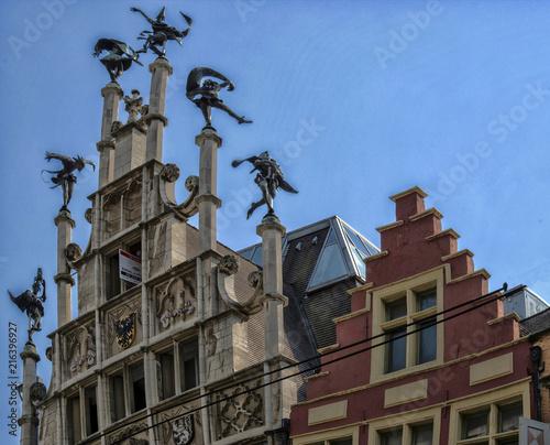 Pignon de maison à Gand, Flandres, Belgique - Buy this stock ...
