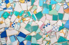 Broken Pieces Of Ceramic Tiled...