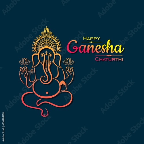 Canvas Print happy ganesh chaturthi festival background