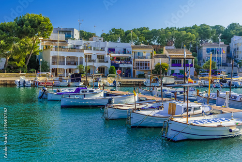 Beautiful Portopetro sea port on Mallorca island - Spain