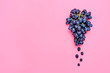 canvas print picture - Natural organic black juicy grapes on a trend pink background  Top View Flat Lay. Rustic Style. Country Village Agriculture concepts