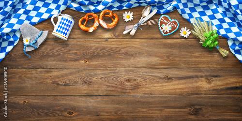 Tableau sur Toile Rustic background for Oktoberfest