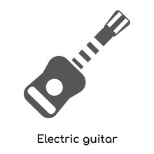 Electric Guitar Icon Isolated On White Background. Modern And Editable Electric Guitar Icon. Simple Icons Vector Illustration.