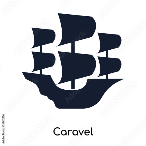 caravel icons isolated on white background Wallpaper Mural