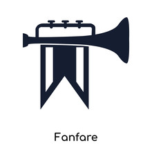 Fanfare Icons Isolated On White Background. Modern And Editable Fanfare Icon. Simple Icon Vector Illustration.