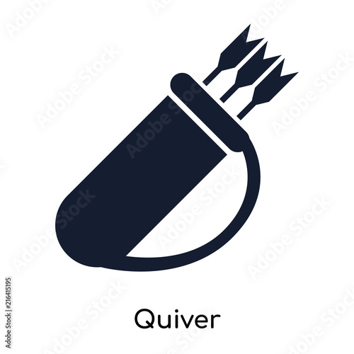 Láminas  Quiver icon vector sign and symbol isolated on white background, Quiver logo con