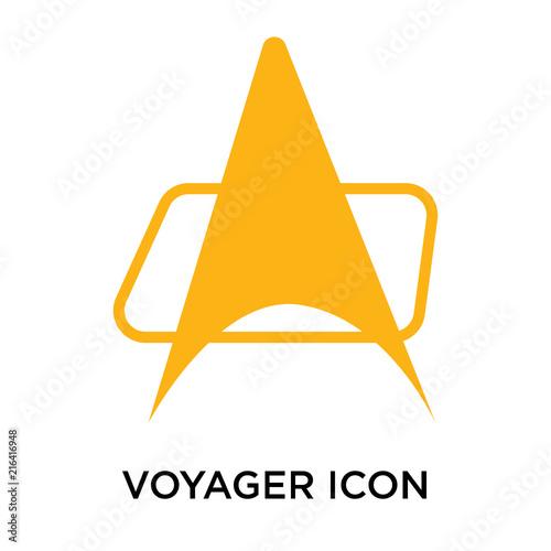 Fototapeta voyager icon isolated on white background
