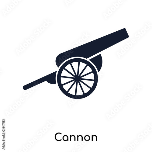 cannon icons isolated on white background Canvas Print