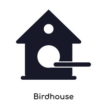 Birdhouse Icon Isolated On Whi...