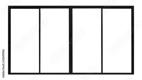 Obraz Large Clear Isolated Glass Window Door - fototapety do salonu