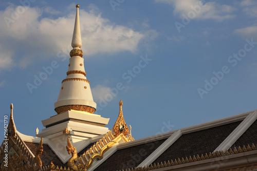 Fotobehang Bedehuis pagoda in a temple of Thailand.