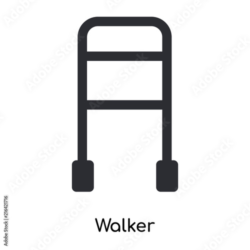 Photo  walker icon isolated on white background