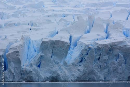 In de dag Antarctica Gletscher Antarktis