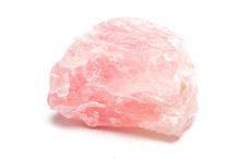 Rose Quartz Mineral Isolated O...
