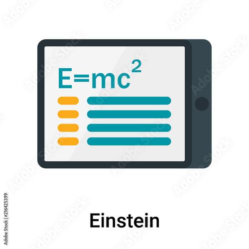 Photo  Einstein icon vector sign and symbol isolated on white background, Einstein logo