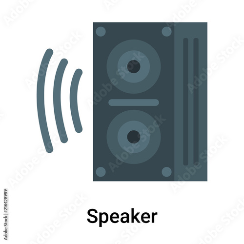 Fototapety, obrazy: Speaker icon vector sign and symbol isolated on white background, Speaker logo concept