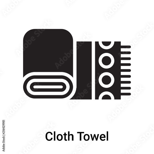 Fototapety, obrazy: Cloth Towel icon vector sign and symbol isolated on white background, Cloth Towel logo concept