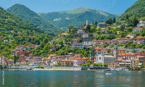 Argegno, idyllic village on Lake Como, Lombardy, Italy. Canvas Print