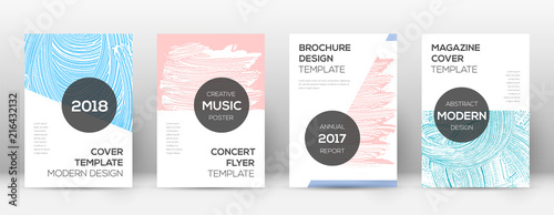 Cover Page Design Template Modern Brochure Layout Creative Trendy