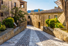 Pals, An Medieval Town In Catalonia, Spain.