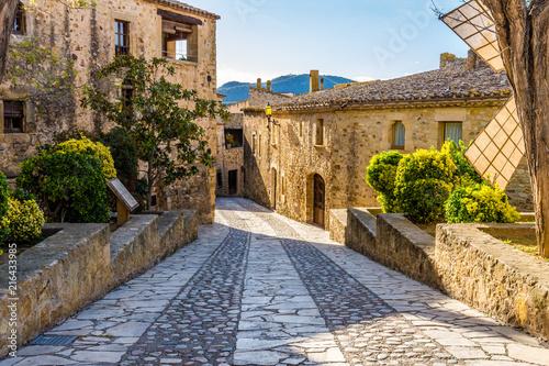 Obraz na plátně Pals, an medieval town in Catalonia, Spain.