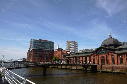 In de dag Noord Europa Port de Hambourg (Allemagne)