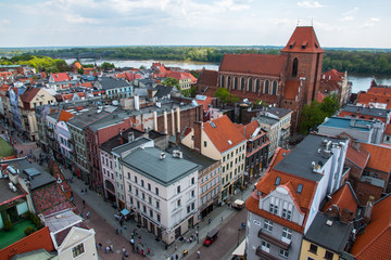 Torun old town, traditional architecture in famous polish city