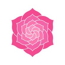 Geometric Pink Flower Design