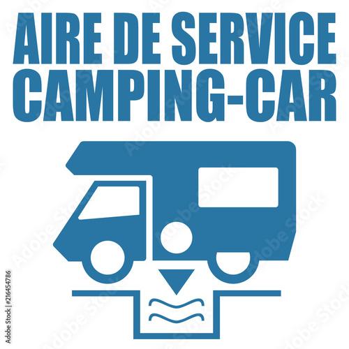 Photo Logo aire de service camping-car.