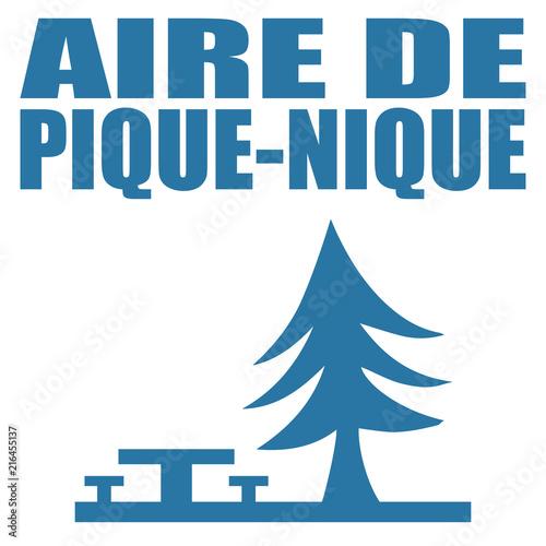 Photo Logo aire de pique-nique.