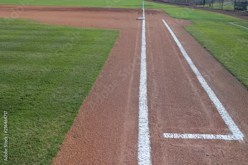 Photo  Baseball infield 1st base line