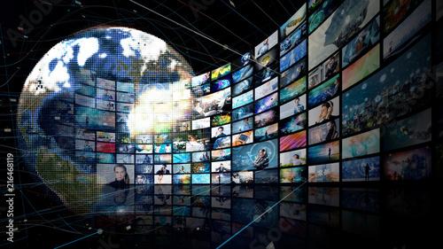Obraz Video archives concept. - fototapety do salonu