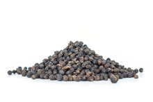 Black Peppercorns Heap On Whit...
