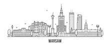 Warsaw Skyline Poland City Bui...