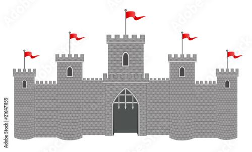 Cuadros en Lienzo Medieval stone castle vector
