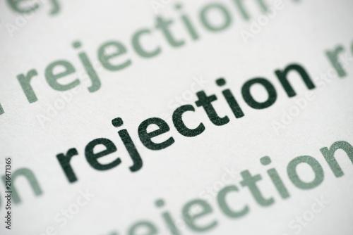 Fényképezés  word rejection  printed on paper macro