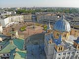 Fototapeta Miasto - Łódź, Poland - view of Freedom Square