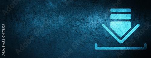 Fotografía  Download icon special blue banner background