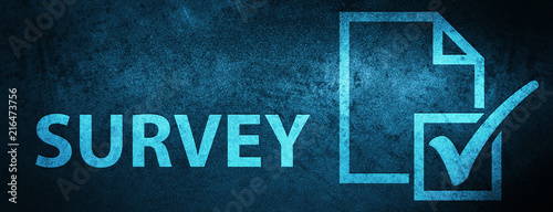 Vászonkép Survey special blue banner background