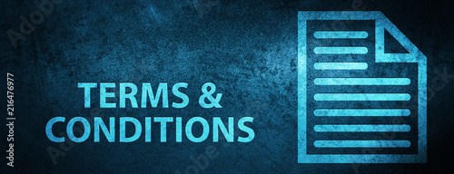 Fotomural  Terms and conditions (page icon) special blue banner background