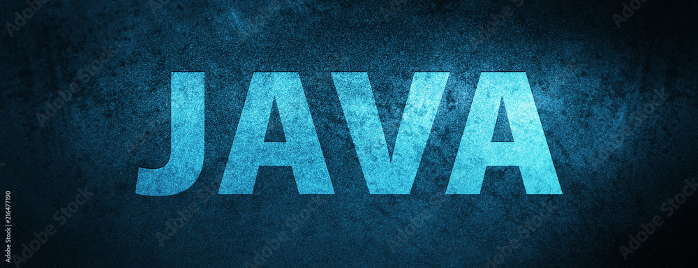 Fototapety, obrazy: Java special blue banner background