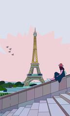 FototapetaGirl In Paris