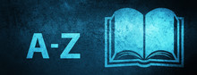 A-Z (book Icon) Special Blue Banner Background