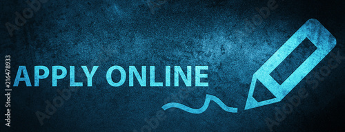 Apply Online Edit Pen Icon Special Blue Banner Background