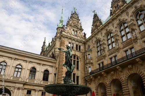 In de dag Noord Europa Hôtel de ville de Hambourg (Allemagne)