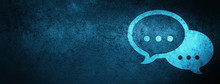 Talk Bubble Icon Special Blue Banner Background