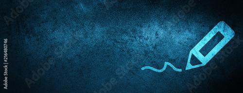 Fotografía Sign up icon special blue banner background