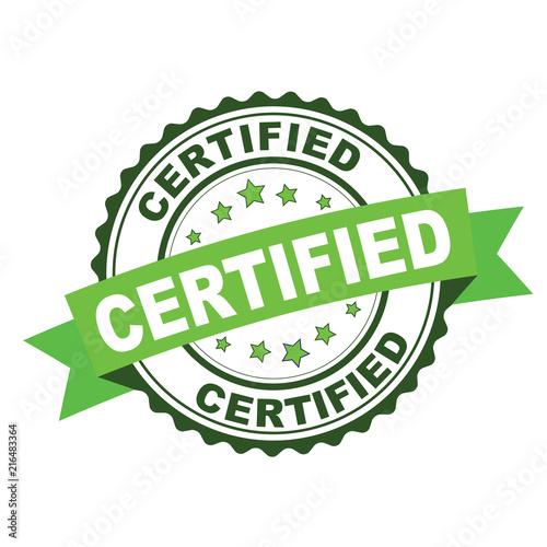 Obraz na plátně Green rubber stamp with certified concept